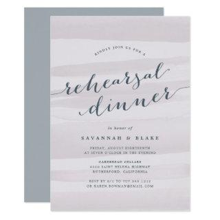 Gray Lilac Watercolor Rehearsal Dinner Invitations