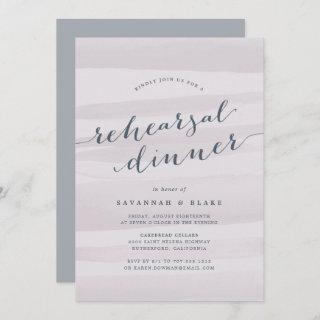 Gray Lilac Watercolor Rehearsal Dinner