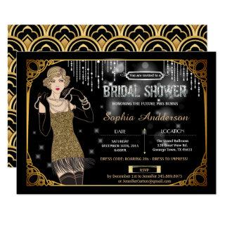 Great Gatsby bridal shower Invitations flapper