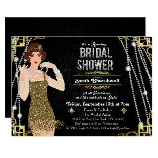 Great Gatsby Flapper Bridal Shower Invitation