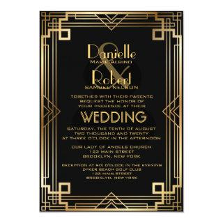 Great Inspired Art Deco Wedding Invitation