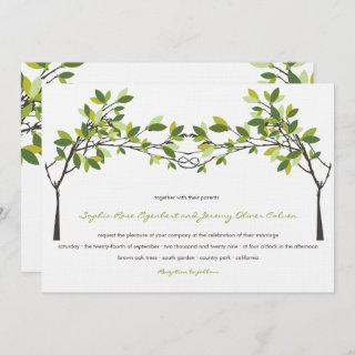 Green Leaves Knotted Love Trees Summer Wedding