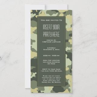 Green Military Camouflage Party