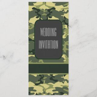 Green military camouflage wedding
