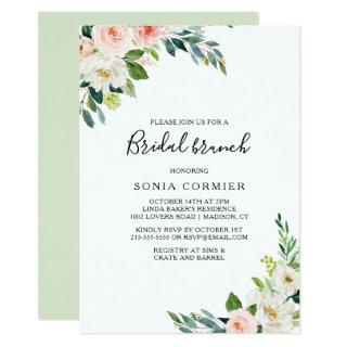 Greenery Elegant Bridal Brunch Invitations