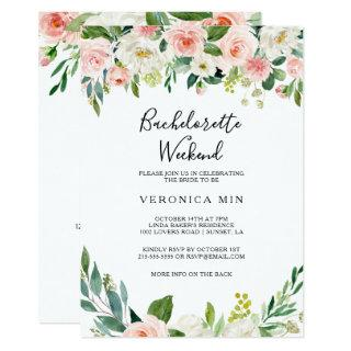 Greenery Elegant Floral Bachelorette Weekend Invitation