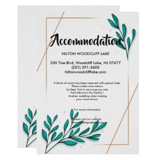 Greenery Floral Gold Foil Leaaccommodate Enclosure Invitations