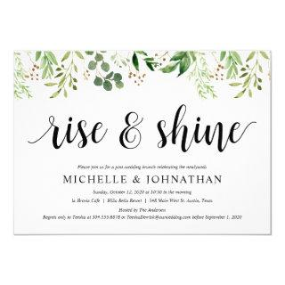 Greenery Post Wedding Brunch Elopement Reception Invitations