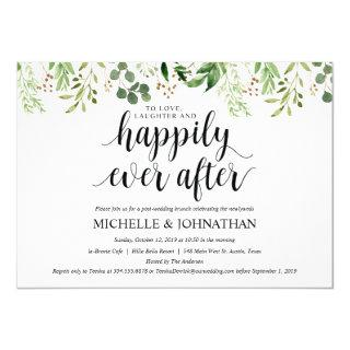Greenery Post Wedding Brunch Invitation Card
