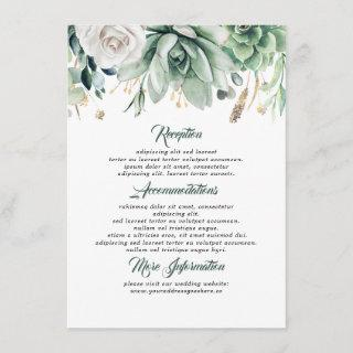 Greenery Wedding Information Guest Enclosure Card