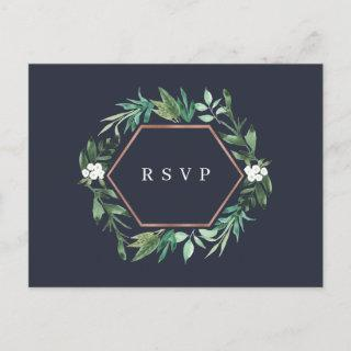 Greenhouse | Watercolor Botanical Meal Choice RSVP Invitations Postcard