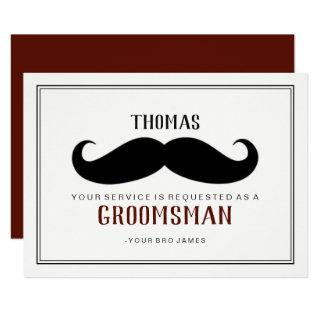 Groomsman Card - Your Stache Wine