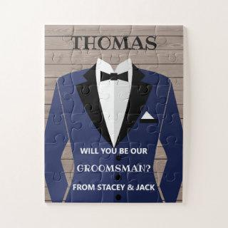 Groomsman Proposal, Will You Be Our Groomsmen? Jigsaw Puzzle
