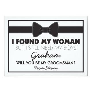 Groomsmen Wedding Bow Tie Invitation