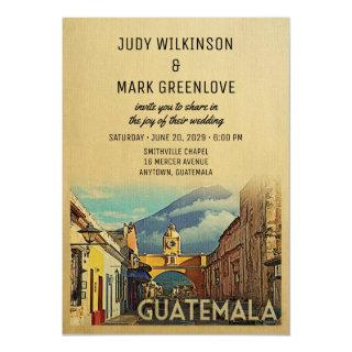 Guatemala Wedding Invitation Vintage Mid-Century