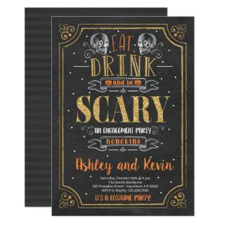 Halloween Engagement Party Invitation Scary