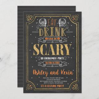 Halloween Engagement Party Invitations Scary