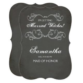 Halloween Maid of Honor Proposal Invite ~ Funny