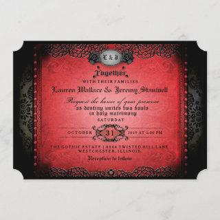 Halloween Red Black Gothic Together Wed RECEPTION