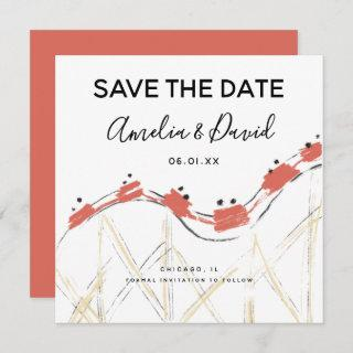 Hand Drawn Abstract Rollercoaster Save the Date
