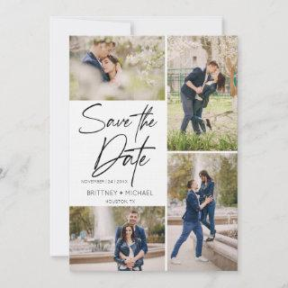 Hand Lettered Image Collage Save The Date