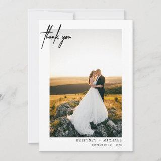 Hand-Lettered Modern Simple Photo Thank You Card