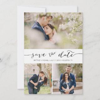 Hand Lettered with Images |  Save the Date Card