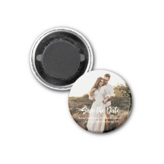 Hand Lettering photo Save the Date Magnet