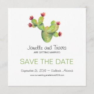 Hand painted Cactus Wedding Save the Date