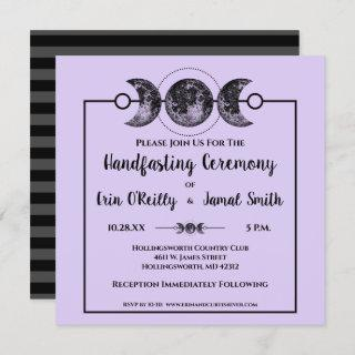Handfasting Wedding Invitation Wicca Pagan Celtic