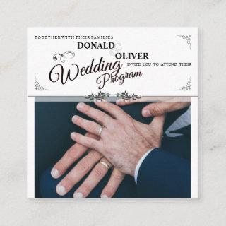 Hands Of A Gay Wedding Couple With Rings Program