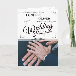 Hands Of A Gay Wedding Couple With Rings V 2.0 Card