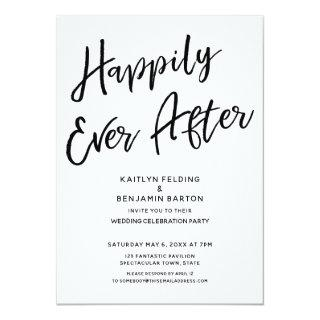"""Happily Ever After"" Casual Post-Wedding Party Invitations"