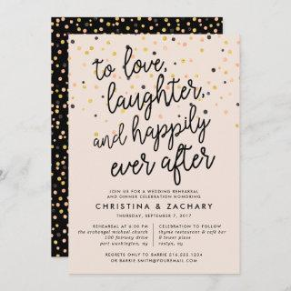 Happily Ever After | Confetti Rehearsal Dinner Invitation