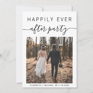 Happily Ever After Party Photo Wedding Announcement