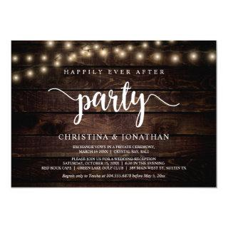 Happily Ever After party,  String Ligh, Elopement Invitations