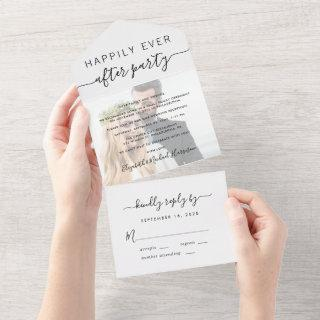 Happily Ever After Photo Wedding Reception All In One