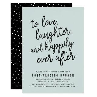 Happily Ever After Post Wedding Brunch Invitations