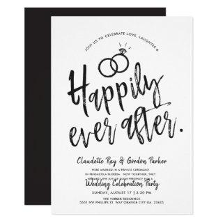 Happily ever after | Post Wedding Party Invitation