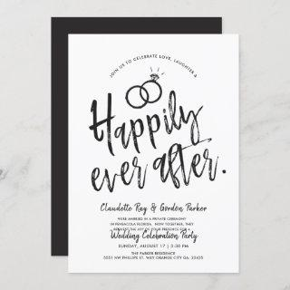 Happily ever after | Post Wedding Party Invitations