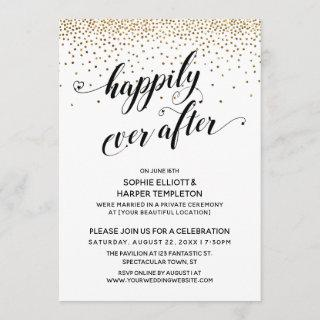 Happily Ever After Reception Only Gold Confetti