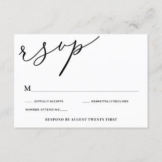 Happily Ever After RSVP enclosure card