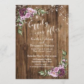 Happily Ever After Rustic Floral Lights Reception