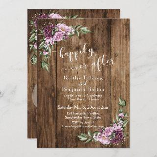 Happily Ever After Rustic Floral Reception Only