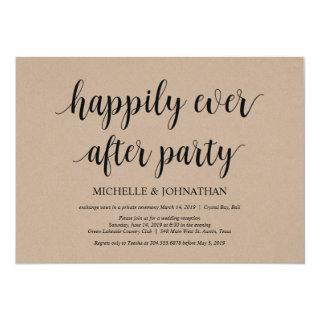 Happily ever after, Wedding Elopement Invites
