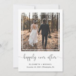 Happily Ever After Wedding Reception Photo Announcement