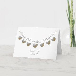 Happy 30th Wedding Anniversary pearl heart card