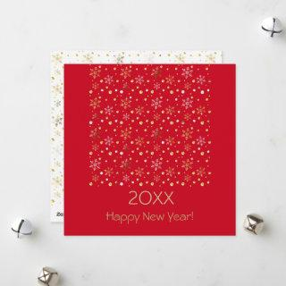 Happy New Year 20XX & Gold Christmas Decoration Holiday Card