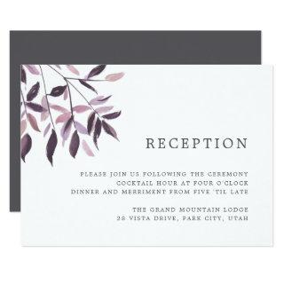 Harvest Blush | Watercolor Foliage Reception Card