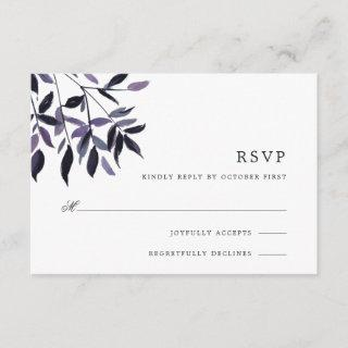 Harvest Plum RSVP Card